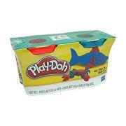 Kit Com 2 Potes Vermelho e Azul Play Doh Hasbro