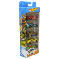 Kit com 5 Carrinhos Hot Wheels Não Repetidos Sortidos Mattel