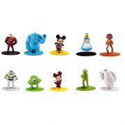 Kit De Bonecos Disney Pixar 4 Cm Nano Metalfigs Com 10 Figuras Jada Toys