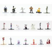 Kit De Bonecos Disney Tim Burton´s The Nightmare Before Christmas 4 Cm Nano Metalfigs Com 20 Figuras