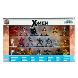 Kit De Bonecos Marvel X-Men 4 Cm Nano Metalfigs Com 20 Figuras Jada Toys