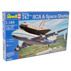 Kit de Montar Boeing 747 Sca e Space Shuttle 1:144 Revell