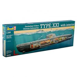 Kit de Montar Submarino U-Boat XXI Type With Interior 1:144 Revell
