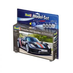 Kit de Montar Porsche 918 Spyder with Weissach Package 1:24 Model Set Revell