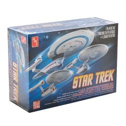 Kit De Montar Amt 1:2500 Star Trek Enterprise Conjunto 3 Em 1 Ncc1