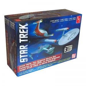 Kit de Montar Star Trek Cadet Series TOS Era Ship 3 Kits 1:2500 Snap Amt