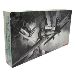 Kit de Montar Antigo Avião Mitsubishi Navy Type 96 Carrier Fighter A5M2a - 1:48 Fine Molds