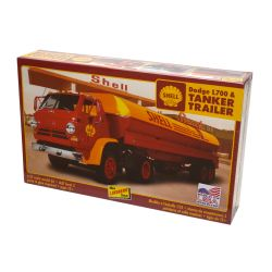 Kit de Montar Dodge L700 & Shell Tanker Trailer 1:25 Lindberg