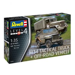 Kit de Montar M34 Tactical Truck + Jeep Vehicle 1:35 Revell