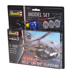 Kit de Montar Helicóptero Bell Uh 1H Gunship 1:100 Model Set Revell