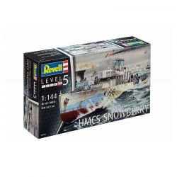 Kit de Montar Navio Flower Class Corvette HMCS Snowberry 1:144 Revell