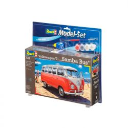 Kit de Montar Volkswagen Kombi T1 Samba Bus 1:24 Model Set Revell
