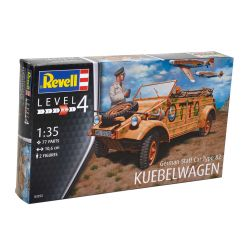 Kit de Montar German Staff Car Type 82 Kuebelwagen 1:35 Revell