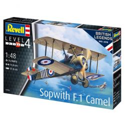 Kit de Montar Avião Sopwith Camel British Legends 100 Anos RAF 1:48 Revell