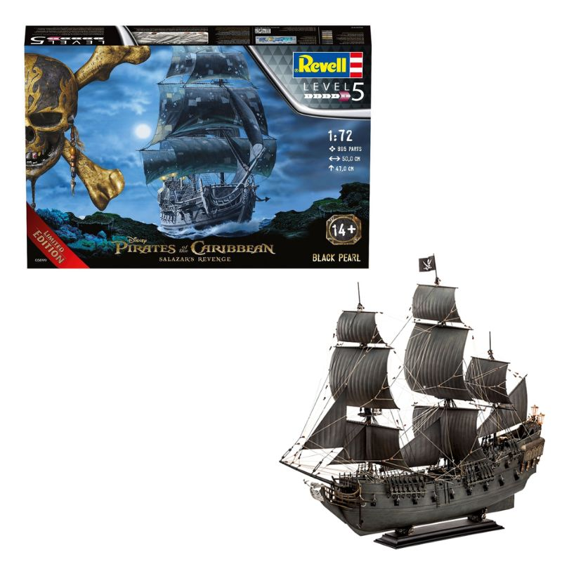 Kit de Montar Disney Piratas do Caribe Black Pearl Limited Edition 1:72 Revell