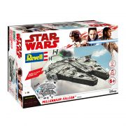 Kit de Montar Star Wars Millennium Falcon com Luz e Som 1:164 Build & Play Revell