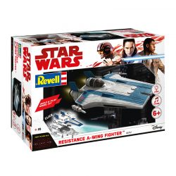 Kit de Montar Resistance A-Wing Fighter Azul com Luz e Som 1:44 Build & Play Revell