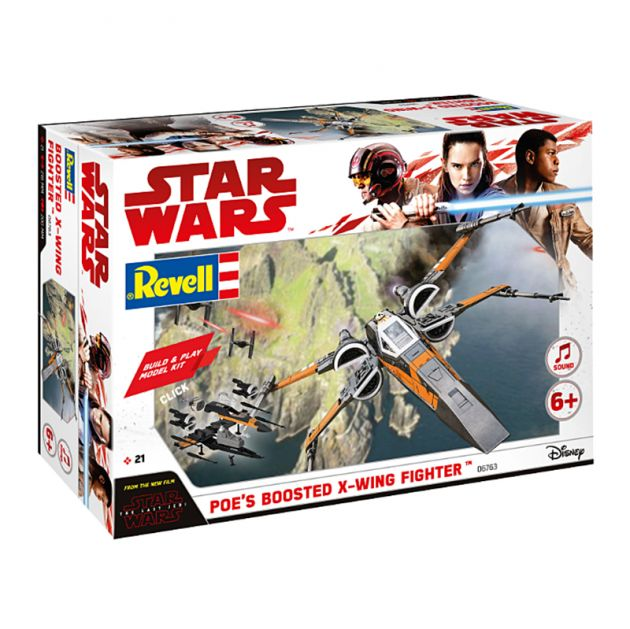 Kit De Montar Revell Build & Play 1:78 Star Wars Poe's Boosted X-Wing Fighter Com luz E Som