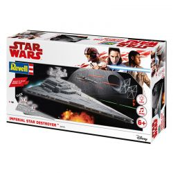 Kit de Montar Star Wars Imperial Star Destroy com Luz e Som 1:4000 Revell