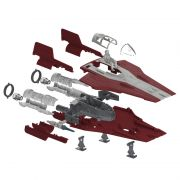 Kit de Montar Star Wars Resistance A-Wing Fighte com Luz e Som 1:44 Revell