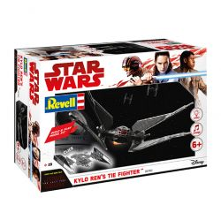 Kit de Montar Star Wars Kylo Ren's TIE Fighter com Luz e Som 1:70 Revell