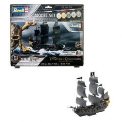 Kit de Montar Piratas do Caribe Black Pearl 1:150 Model Set Easy-Click Revell