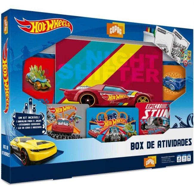 Kit Hot Wheels Box de Atividades com Jogos Copag