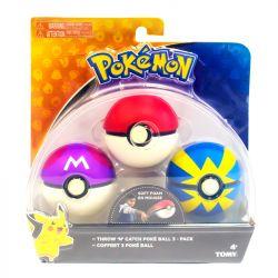 Kit Pokémon com 3 Pokébolas Pikachu 1962A - Sunny