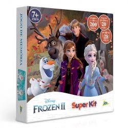 Kit Quebra Cabeça Jogo da Memória e Dominó Frozen II Disney - Toyster