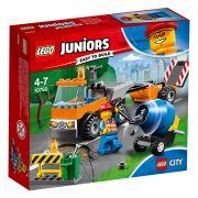 Lego Juniors Caminhão De Reparação Das Estradas 10750