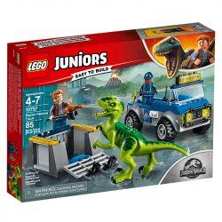 Lego Juniors Jurassic Caminhao De Resgate De Raptor 10757