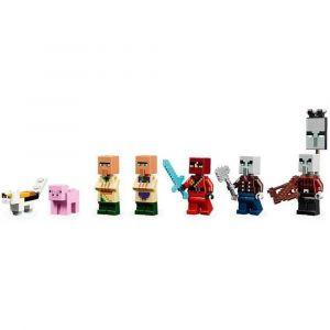 Lego Minecraft O Ataque de Illager 562 Peças 21160