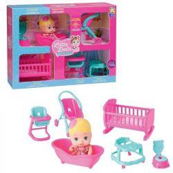 Little Dolls Casinha 1 Boneca + 6 Acessórios Divertoys