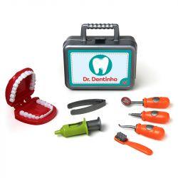Maleta Médica Kit Dentista Infantil Dentinho 8 Peças Elka
