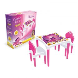 Mesa Flor Mesinha Infantil Criança Com 2 Cadeiras Xalingo
