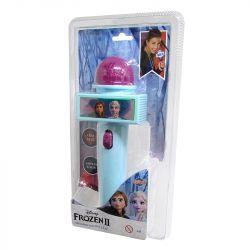Microfone Infantil com Eco e Luz Azul Disney Frozen - Toyng
