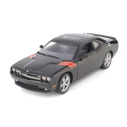 Miniatura Dodge Challenger R/T 2010 Preto 1:18 Highway 61 Collectibles
