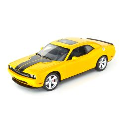 Miniatura Dodge Challenger SRT8 Detonator 2010 Amarelo 1:18 Highway 61 Collectibles