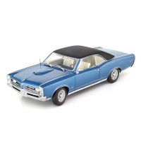 Miniatura Pontiac GTO Hardtop 1966 Azul 1:18 Highway 61 Collectibles