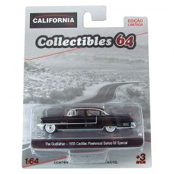 Miniatura Cadillac Fleetwood Special The Godfather 1955 Preto 1:64 Série 4 California Collectibles