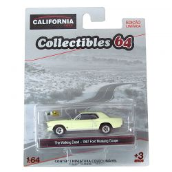 Miniatura Ford Mustang Coupe The Walking Dead 1967 Bege 1:64 Série 4 California Collectibles