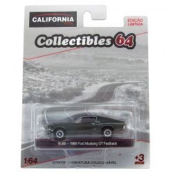 Miniatura Ford Mustang GT Fastback 1968 Verde 1:64 Série 4 California Collectibles