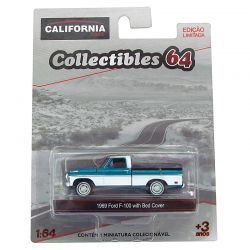 Miniatura Ford F-100 1969 Verde 1:64 Série 4 California Collectibles