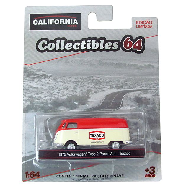 Miniatura Volkswagen Kombi Texaco 1975 1:64 Série 4 California Collectibles