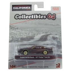 Miniatura Pontiac Trans Am Smokey and The Bandit 1977 Preto 1:64 Série 4 California Collectibles