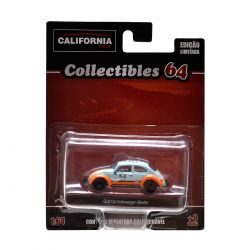 Miniatura Volkswagen Beetle Gulf Oil 1:64 Série 2 California Collectibles