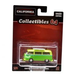 Miniatura Volkswagen Type 2 T2 Bus 1968 1:64 Série 2 California Collectibles