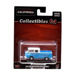Miniatura Volkswagen Kombi Pickup 1968 1:64 Série 2 California Collectibles