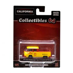 Miniatura Volkswagen Kombi Pickup Shell Oil 1976 1:64 Série 2 California Collectibles