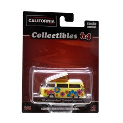 Miniatura Volkswagen Type 2 T2 Westfalia Campmobile 1968 1:64 Série 2 California Collectibles